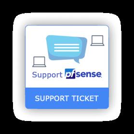 Support ticket pfSense 1 intervention online