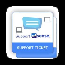 Support ticket pfSense 2 interventions