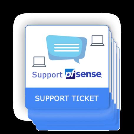 Ticket de support pfSense 5 interventions