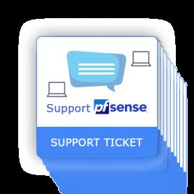 Ticket de support pfSense 10 interventions online