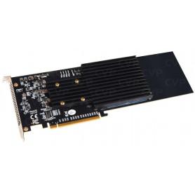 Sonnet M.2 4x4 PCIe - PCIe-Karte für 4 M.2 NVMe-SSDs - Thunderbolt-kompatibel