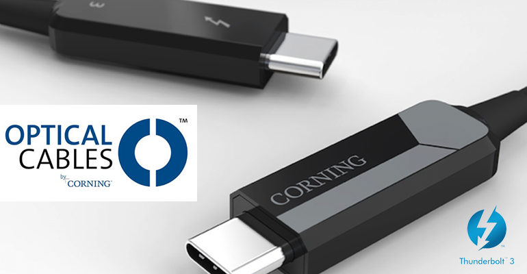 cable thunderbolt3 corning